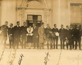 Lindbergh, Charles & others - Signed matte-finish