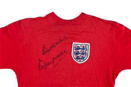 Moore, Bobby - Bobby Moore's worn red England No. 6