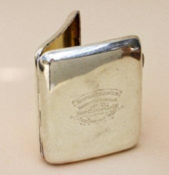 9C: SILVER POCKET CIGAR CASE, Chester 1902