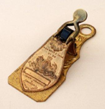 35C: RARE MERRY, PHIPSON & PARKER LETTER CLIP,1843