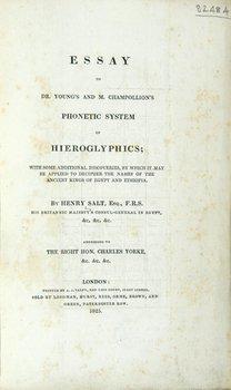11A: Salt.Essay..Phonetic Syst..Hieroglyphics,1825