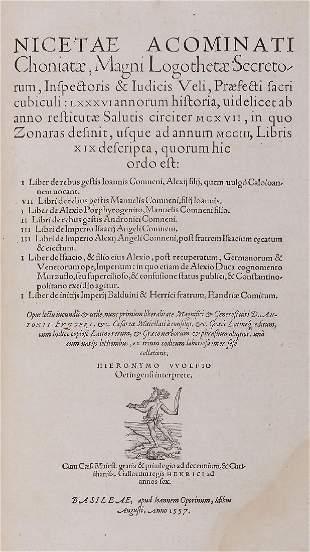 Zonaras (Johannes) - Compendium Historiarum,