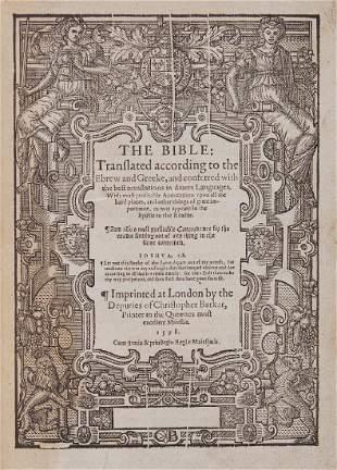 Bible.- English. - The Bible: Translated according to