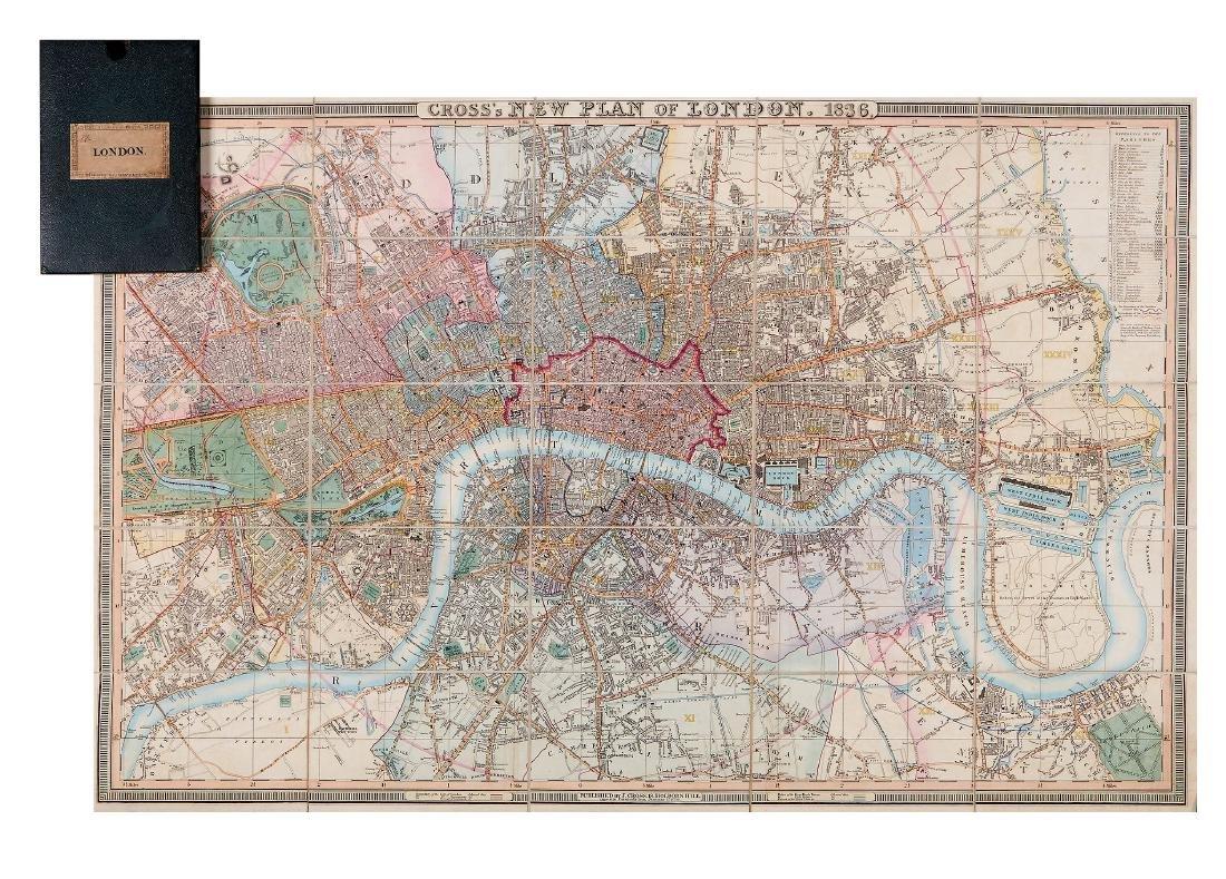 Cross (Joseph) - Cross's New Plan of London, 1836,