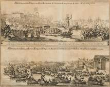 London.- - A group of 17th and 18th century views of