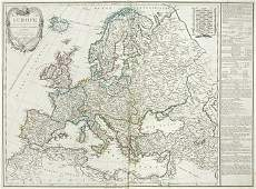 110B Delamarche Charles Francois Europe divise en s