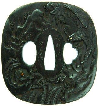 124D: Japan, Iron Tsuba