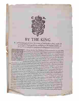 Civil War.- Charles I - By the King. A Proclamation