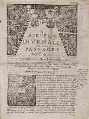 Civil War, - Newsbooks. - A Pefect Diurnall of the
