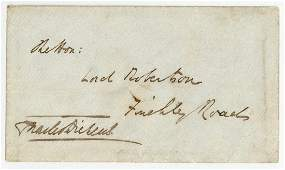 Dickens (Charles) - Envelope signed , addressed to