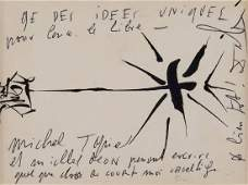 Dali (Salvador) - Off-white postcard signed , featuring