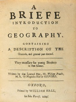 20C: Pemble (W) Briefe Introduction to Geography