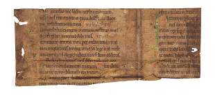Fragment from a Psalter decorated manuscript in Latin