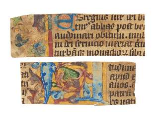 Two cuttings from an illuminated Passional or Breviary