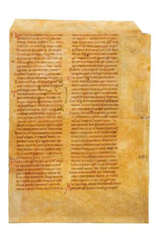 Leaf from a very large Passional manuscript in Latin
