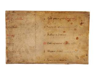 Leaf from a very large Calendar manuscript in Latin on