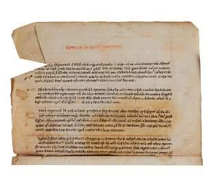 Leaf from a copy of Tacuinum Sanitatis a fundamentally