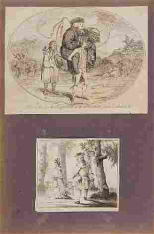 Album. - [Gilray & Rowlandson's Humourous Caricatures],