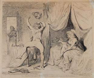Gillray James The Morning after Marriageor A