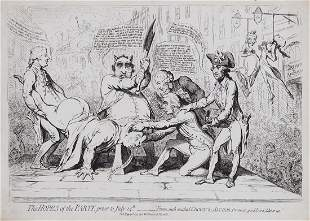 Gillray (James) - The Hopes of the Party, prior to July