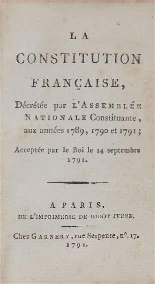French Revolution La Constitution fran231aise