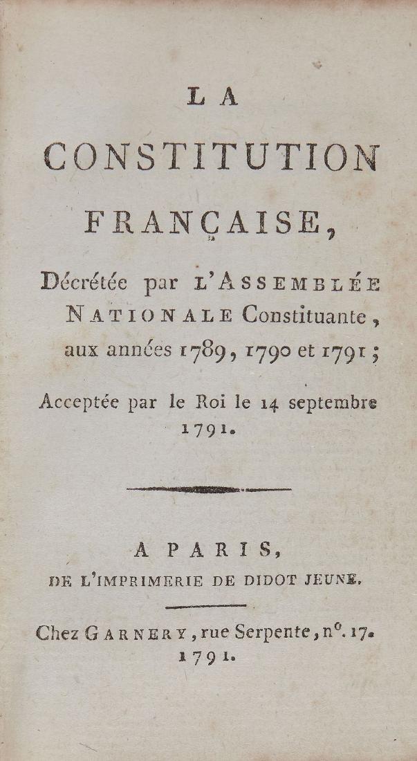 French Revolution:- - La Constitution française,