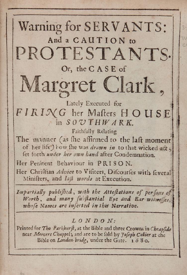 [Clark (Margret] - Warning for Servants: