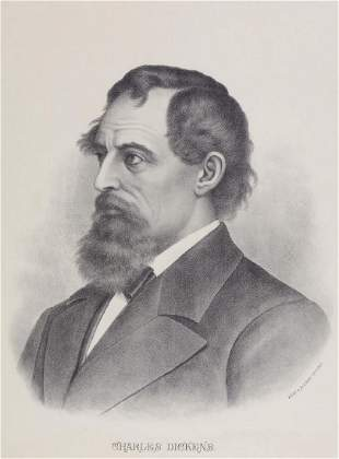Dickens Charles Lithographed portait