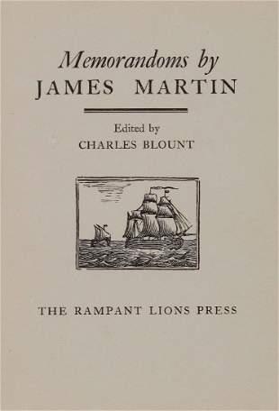 Rampant Lions Press Martin James Memorandoms