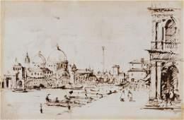 18th century English School. - A view of Venice,