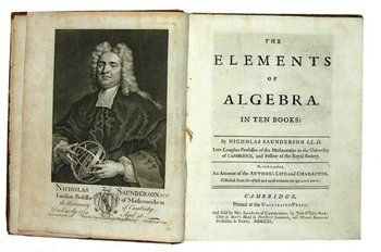 737D: Saunderson (Nicholas) The Elements of Algebra