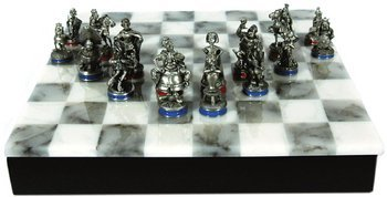 258E: AN ASTERIX PEWTER CHESS SET
