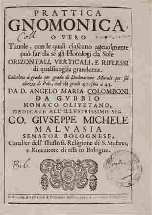 Colomboni Angelo Maria Prattica Gnomonica