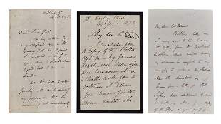 Lyell Charles Autograph letter signed to Sir Edward