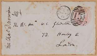 Darwin Charles Autograph envelope panel unsigned