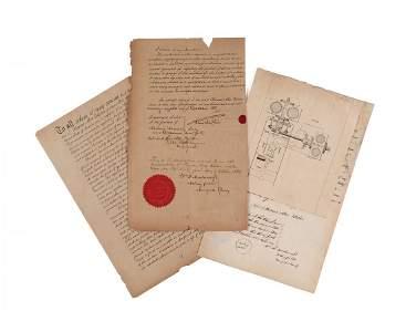 Edison (Thomas Alva) - Printed patent application