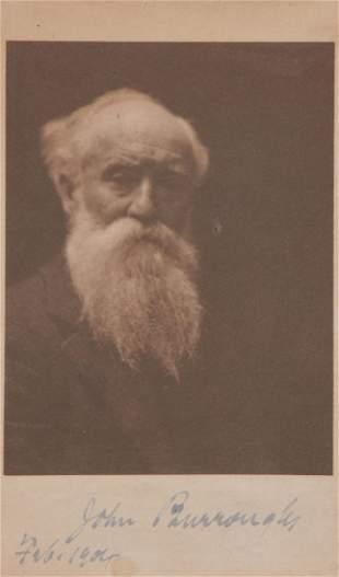 Burroughs John Head and shoulders photograph of