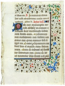 8D: Book Of Hours, a bifolium and a single f.