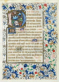 10D: Book Of Hours, single leaf