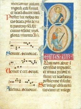 12D: Choirbook,  single f.