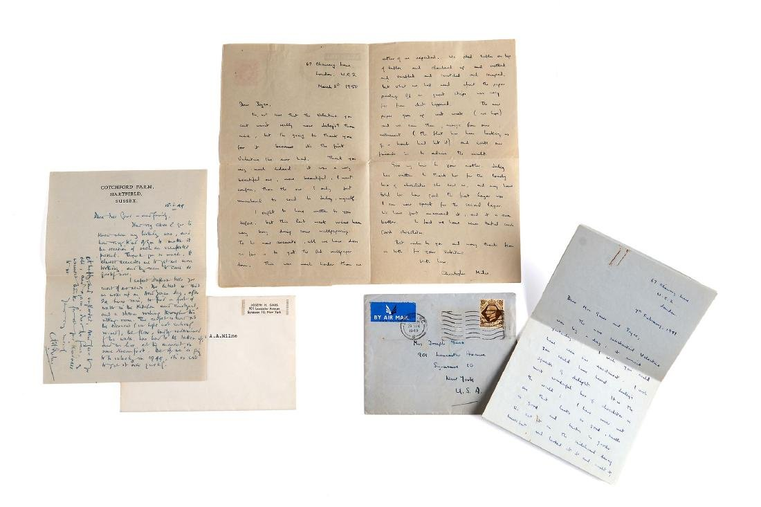 Milne (A.A.) & Others - Collection of autograph letters