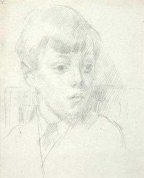 4E: Henry Lamb (1883-1960) head of a boy, c. 1950