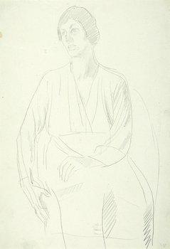 5E: Henry Lamb (1883-1960) sketch of a woman, c. 1950