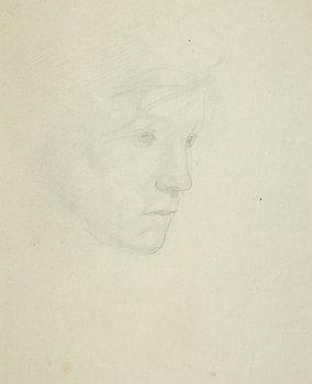 7E: Henry Lamb (1883-1960) head of a girl, c. 1950