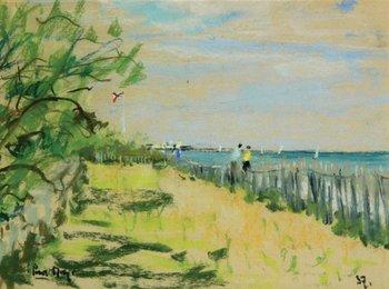 8E: Paul Maze (1887-1979) beach scene, 1937