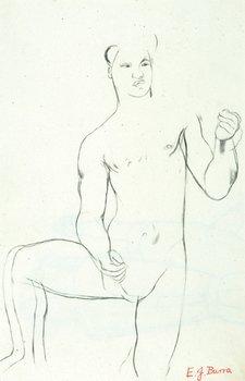 10E: Edward Burra (1905-1976) male nude (recto), male a
