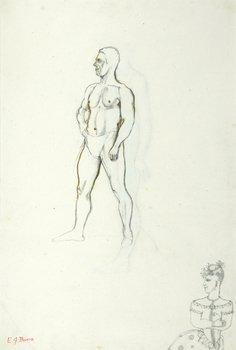 12E: Edward Burra (1905-1976) standing male (recto)