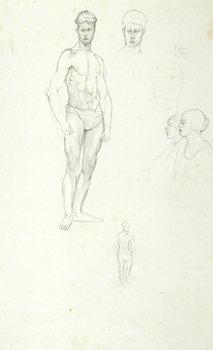 13E: Edward Burra (1905-1976) figure studies (recto and