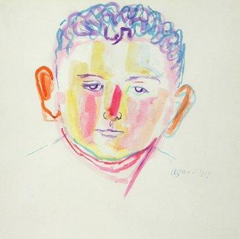 17E: Eileen Agar (1899-1991) portrait of a boy, 1927