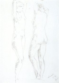 18E: Alfred Wolmark (1877-1961) two standing nudes, 192